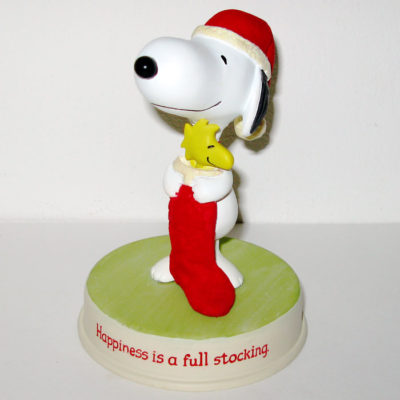 Snoopy & Woodstock with Stocking Figurine