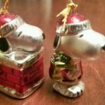 Snoopy Miniature Christmas Ornaments by Adler