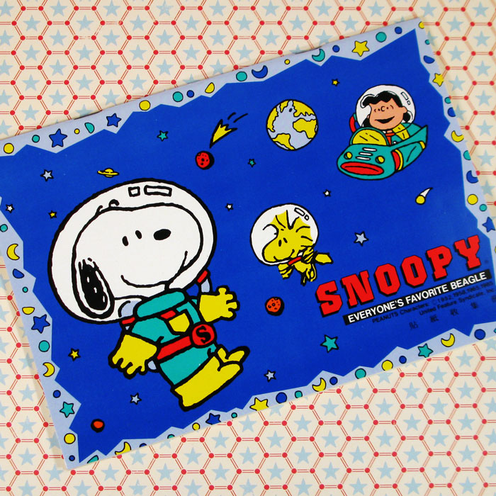 Astronauts Snoopy Woodstock and Lucy Sticker Album ...