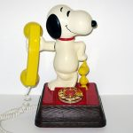 Snoopy Telephone - Gold Dial Phone