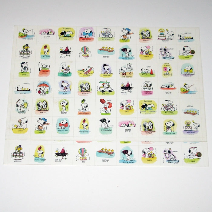 Kids Calendar With Activity Stickers : Snoopy woodstock calendar activity stickers
