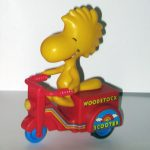 Woodstock on Red Scooter Friction Toy