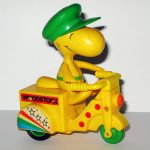 Woodstock on Yellow Scooter Friction Car