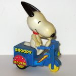 Snoopy on Blue Scooter Friction Car