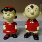 Lucy and Charlie Brown Ceramic Figurines