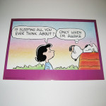 Lucy & Snoopy Sleeping Poster