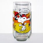 Lucy Relaxing McDonald's Camp Snoopy Glass