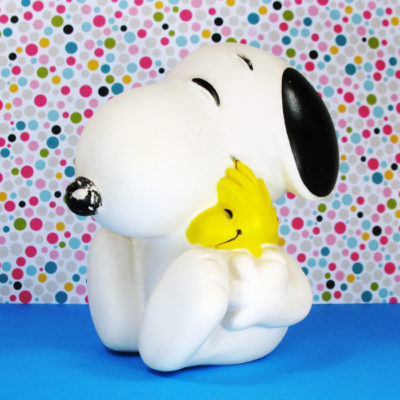 Snoopy hugging Woodstock Squeaky Toy