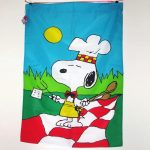 Bar-B-Q Snoopy Large Flag