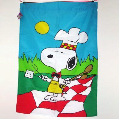 Bar-B-Q Snoopy Large Flag