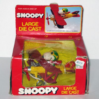Snoopy Flying Ace Die Cast Bi-Plane