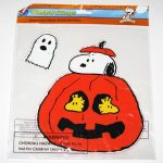 Snoopy & Woodstocks in Pumpkin Halloween Window Gel Cling