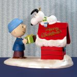 Charlie Brown and Snoopy on Doghouse Ornament