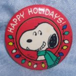 Snoopy Happy Holidays Hallmark Pinback Button