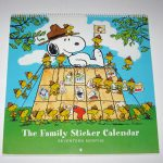 Snoopy Sticker Family Calendar