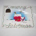 Snoopy & Woodstock Christmas Placemats