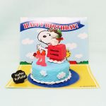 Snoopy Flying Ace Birthday Cake