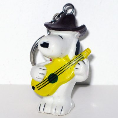 Snoopy Cowboy with Guitar Keychain