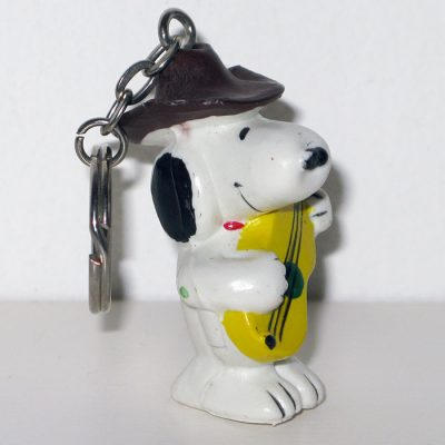 Snoopy Cowboy with Guitar Keychain