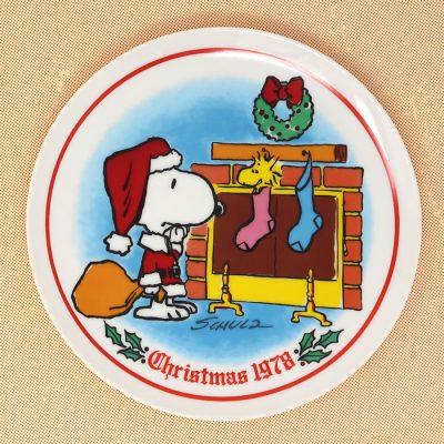 Snoopy 1978 Christmas Plate