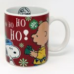 Charlie Brown & Snoopy Ho Ho Ho Christmas Mug