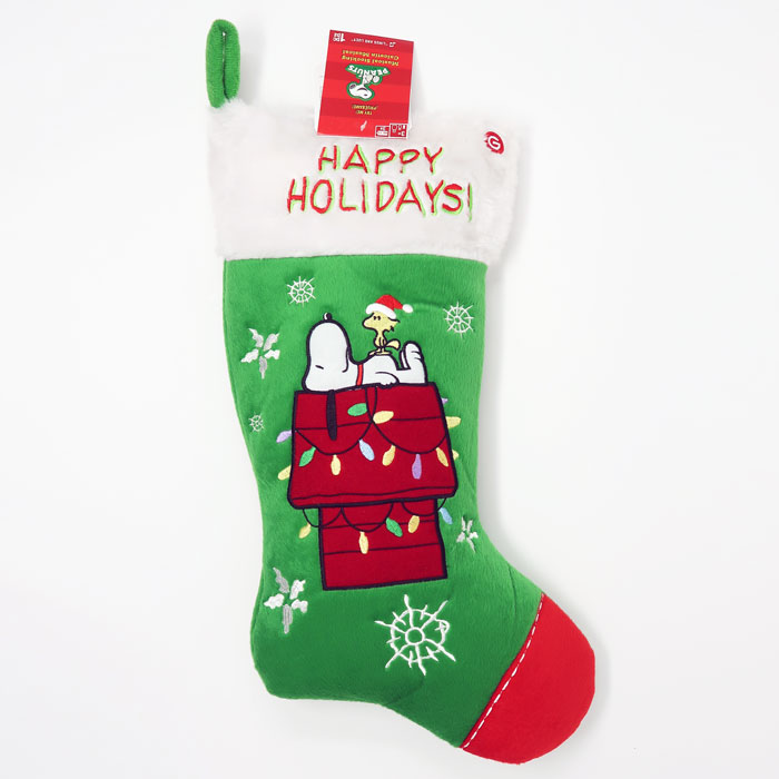 snoopy woodstock on doghouse christmas stocking - Snoopy Christmas Stocking