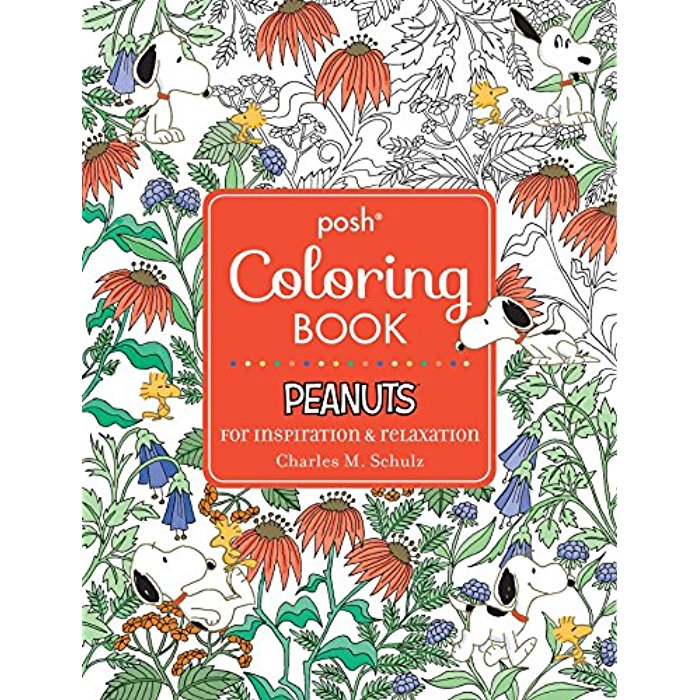 Posh Adult Coloring Book Peanuts For Inspiration
