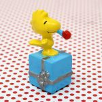 Woodstock on top of gift box PVC Figurine