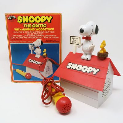 Rare Snoopy The Critic Microphone Loudspeaker Toy