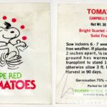 Peanuts Interstate Brands Seed Packets