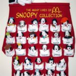 Peanuts McDonald's International Happy Meal Toys with Display