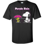 Snoopy & Woodstock Purple Rain Shirt