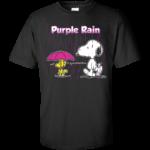 Snoopy & Woodstock Purple Rain Shirt