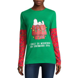 Click to shop Peanuts Christmas Shirts at JCPenny's and support our site.